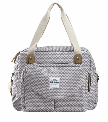 Sac Geneve 2 PLAY PRINT Grey BEABA