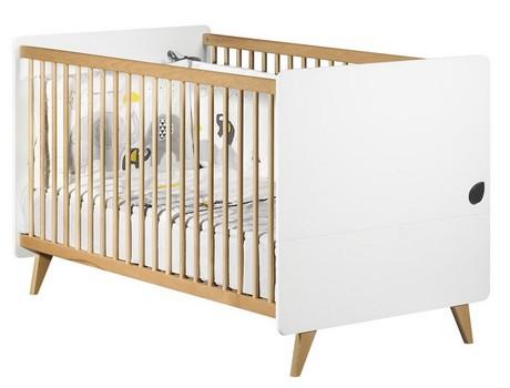 lit volutif 70x140 blanc bois oslo vente en ligne de chambre b b b b 9. Black Bedroom Furniture Sets. Home Design Ideas