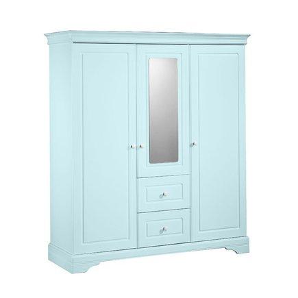Armoire 3 volumes avec miroir ELODIE Bleu, Vente en ligne de Chambre ...