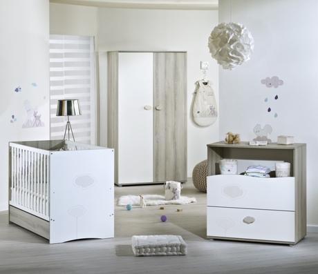 Chambre NAEL lit 60x120 commode armoire, Vente en ligne de Chambre ...