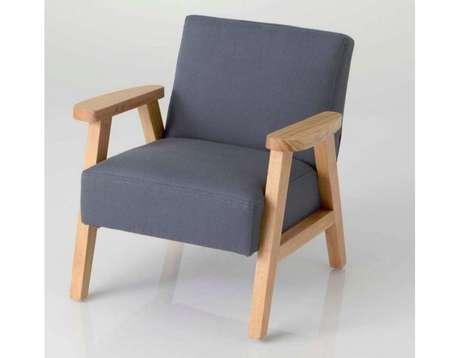 fauteuil enfant en bois gris l onard vente en ligne de. Black Bedroom Furniture Sets. Home Design Ideas