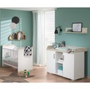 Chambre DUO Lit 60x120+commode Metamorphose BEBE9 CREATION - 3