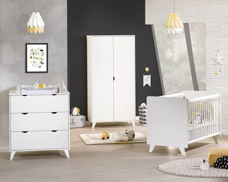 Chambre lit 60x120 + commode + armoire Secret BEBE9 CREATION