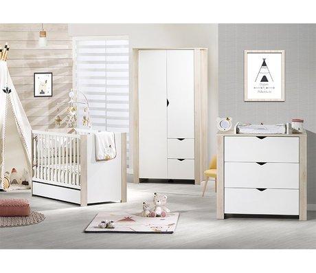 Chambre bébé Lit 120x60 commode armoire Tipee, Vente en ligne de ...