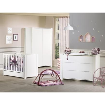 Chambre Lit 140x70 commode armoire LOFT Blanc, Vente en ligne de ...