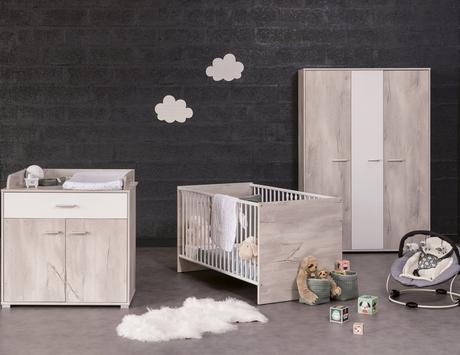 Chambre lit 70x140 commode armoire KYLIAN, Vente en ligne de Chambre ...
