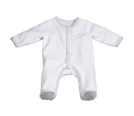 code de promo vif et grand en style nouveau style Pyjama velours Blanc / Lune naissance Céleste