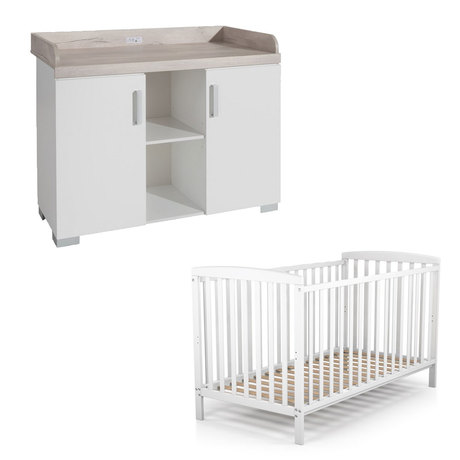 Chambre duo Lit COSY Blanc+Commode METAMORPHOSE BEBE9 CREATION