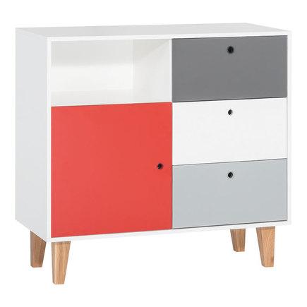 Commode blanc/gris rouge Chambre Concept, Vente en ligne de Chambre ...