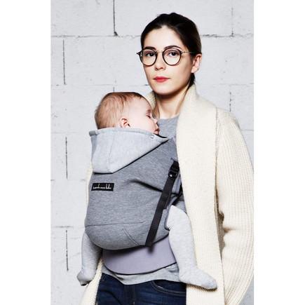 Porte-bébé Hoodie Carrier Gris Flanelle, Vente en ligne de Poussette ... 0331e549370