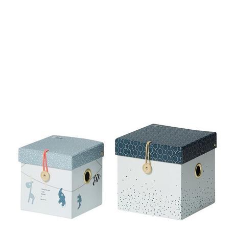 Set de 2 boites de rangement bleues