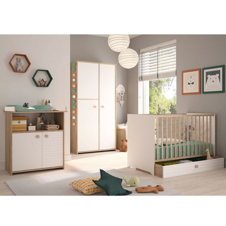 Chambre DUO INTIMI Lit 60x120 +Commode BEBE9 CREATION