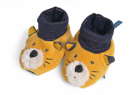 1f1b1004c21e0 Chaussons chat moutarde Lulu Les Moustaches MOULIN ROTY Zoom