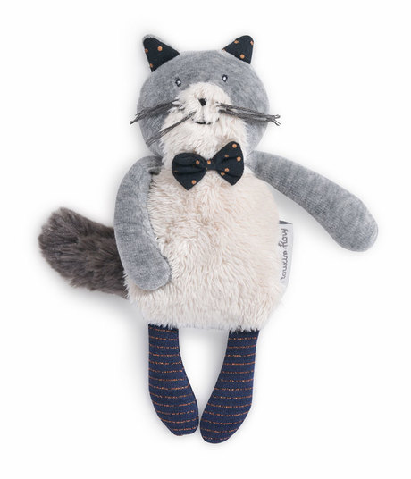 Miniature chat gris clair Fernand Les Moustaches MOULIN ROTY