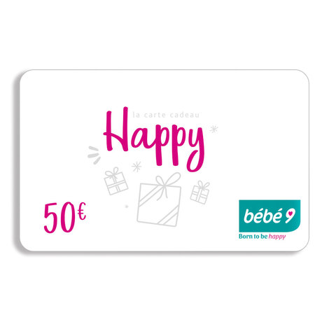 Carte cadeau 50 € BEBE9 CREATION Zoom d04e80fe38d
