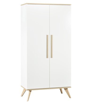 Chambre Lit 70x140 + Commode + Armoire FANON Blanc BEBE9 CREATION - 4