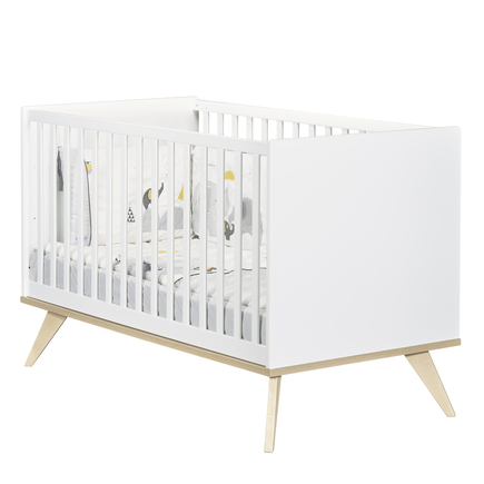 Chambre Lit 70x140 + Commode + Armoire FANON Blanc BEBE9 CREATION - 3