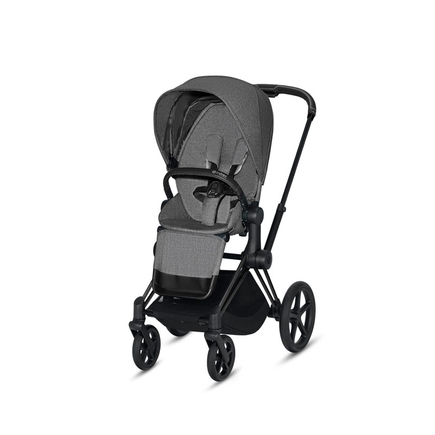 Poussette PRIAM Matt Black Manhattan Grey PLUS CYBEX