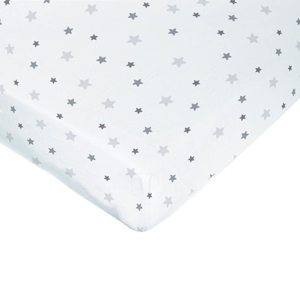 Drap-housse jersey 50x90 cm Star Gris BEBE9 CREATION