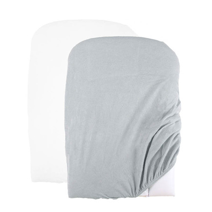 Lot de 2 Housses de matelas à langer Blanc/Gris BEBE9 CREATION
