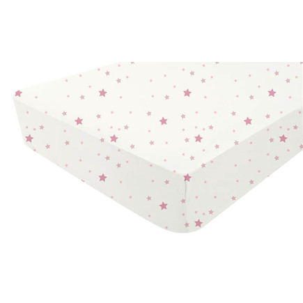 Drap-housse jersey 50x90 cm Star Rose BEBE9 CREATION
