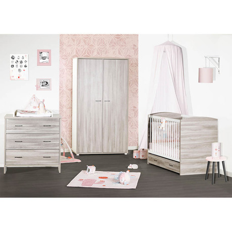 Chambre Duo Lit 70x140 Commode Vintage Silex