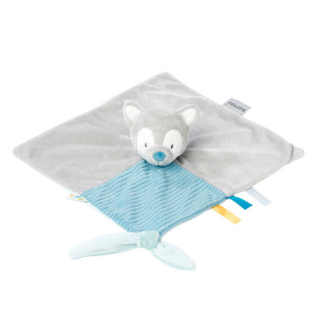NATTOU Couverture Douce Loup pour B/éb/és Tim//Tiloo Bleu 100 /× 135 cm