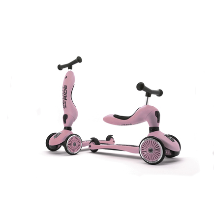 Trottinette 2 en 1 HIGHWAY KICK 1 Rose SCOOT AND RIDE - 3