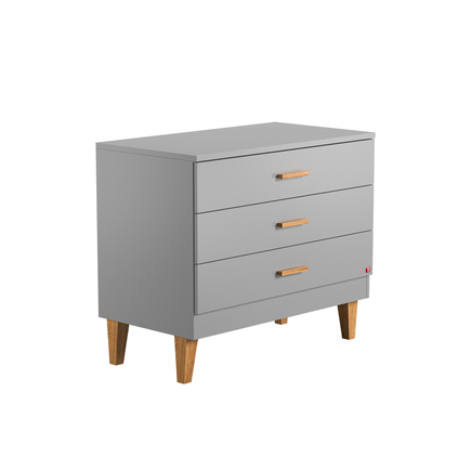 Commode 3 tiroirs LOUNGE Gris VOX