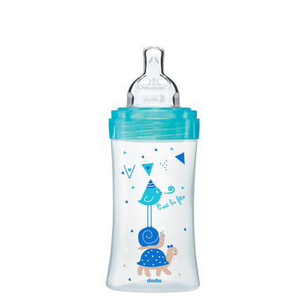 Biberon Sensation+ 270ml Lagoon Chat 0-6 m débit 2 DODIE - 4