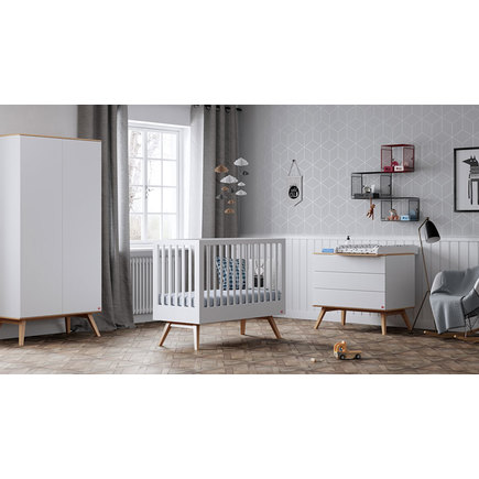 Lit transformable 70X140 Nature Baby Blanc/Bois VOX - 2