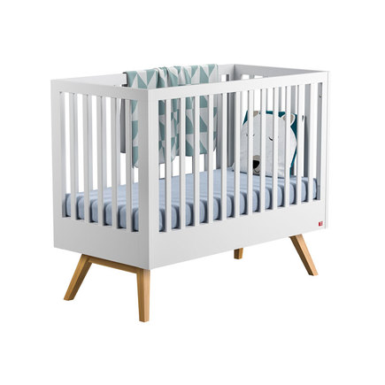Lit transformable 70X140 Nature Baby Blanc/Bois VOX