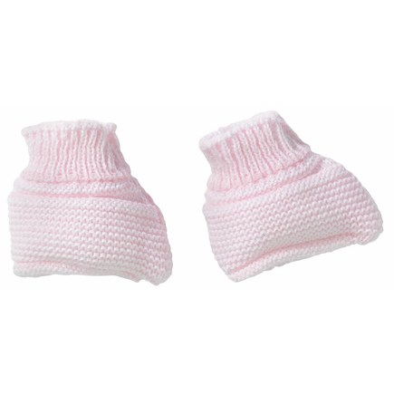 Chaussons maille rose naissance BEBE9 CREATION