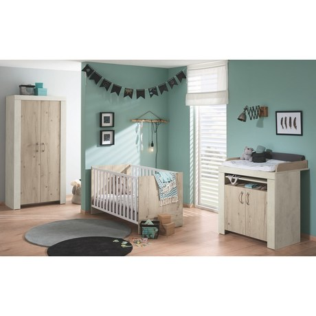Chambre Lit 70x140 Commode Armoire Industry