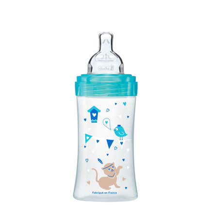 Biberon Sensation+ 270ml Lagoon Chat 0-6 m débit 2 DODIE - 5