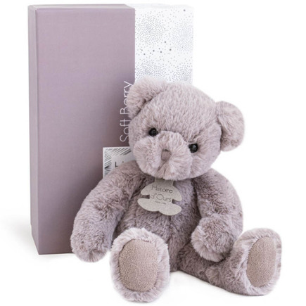 Peluche Ours SOFT BERRY Rose 28 cm HISTOIRE D'OURS