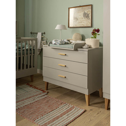 Commode 3 tiroirs LOUNGE Gris VOX - 2