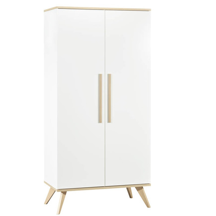 Chambre Lit 70x140 + Commode + Armoire FANON Blanc BEBE9 CREATION - 8