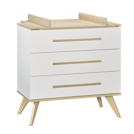 Chambre Lit 60x120 + Commode + Armoire FANON Blanc BEBE9 CREATION - 5