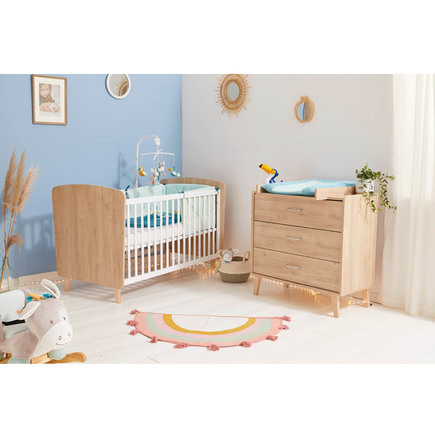 Chambre Duo Lit 70x140 + Commode ZELIE BOIS BEBE9 CREATION
