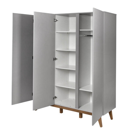 Armoire 3 portes TRENDY Griffin Grey QUAX - 2