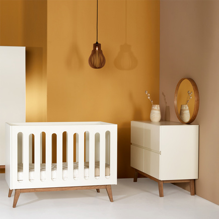 Chambre DUO Lit 60x120 Commode TRENDY Blanc QUAX