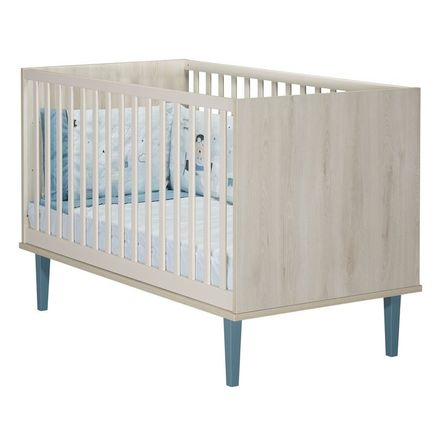 Chambre DUO Lit 70x140 + Commode OPALINE Bleu BEBE9 CREATION - 2