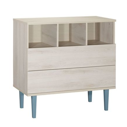 Chambre DUO Lit 70x140 + Commode OPALINE Bleu BEBE9 CREATION - 4