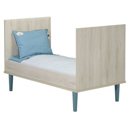 Chambre DUO Lit 70x140 + Commode OPALINE Bleu BEBE9 CREATION - 3