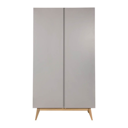 Chambre TRIO Lit 60x120 Commode Armoire TRENDY Griffin Grey QUAX - 2
