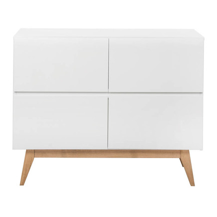 Chambre DUO Lit 60x120 Commode TRENDY Blanc QUAX - 3