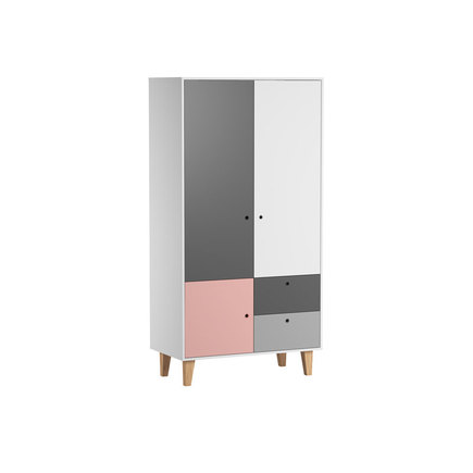 Chambre Concept lit 60x120+commode+armoire Rose VOX - 4