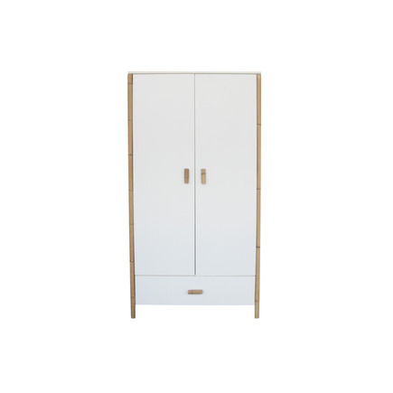 Chambre TRIO Lit 70x140 Commode Armoire OCEANE Neige THEO - 13
