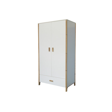 Chambre TRIO Lit 70x140 Commode Armoire OCEANE Neige THEO - 10